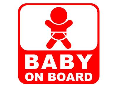 BABY ON BOARDステッカー