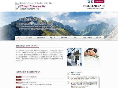 カイロプラクティック治療院様ウェブサイト